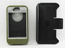 OtterBox Defender Hard Case w/Holster Belt Clip for iPhone 4S 4 Olive Green USED