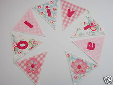 PERSONALISED BUNTING CATH KIDSTON & LAURA ASHLEY FABRIC -£2.50 per lettered flag