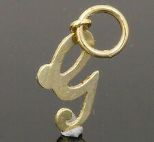 9Carat Yellow Gold Letter 'G' Charm (Approx 8x13mm)