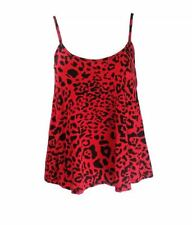 WOMEN LADIES SLEEVELESS PRINT PATTERN SWING CAMI STRAPPY VEST TOP PLUS SIZE 8-22