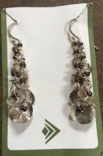 Waterfall Sterling Silver And Metallic Seed Beads Earrings SILPADA W2172 NEW