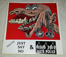 TESCO VEE HATE POLICE JUST SAY NO GREEN VINYL SINGLE MINT UNPLAYED MEATMEN TVHP