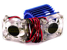 Latest Integy Twin Cooling Fan+Heatsink 540/550 Motor w/ 36mm O.D. # 23251Blue