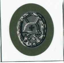 WWII German Silver Wound Badge Iron Cross Fabric Printed Repro Patch Heer Waffen