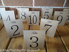 Kraft Brown Table Numbers 1 to 12 Tent Style Wedding Birthday Party Decorations