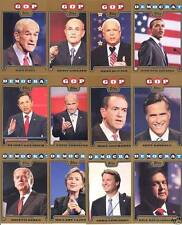 2008 TOPPS CAMPAIGN GOLD SET PRESIDENT OBAMA HILLARY CLINTON ROMNEY BIDEN $100