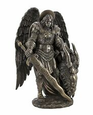 Saint Michael Archangel Slayer of Lucifer Dragon Figurine Statue Angel Guardian