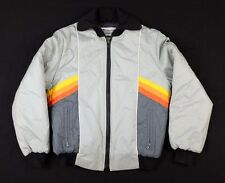 Vtg 1980s Women's Bombardier Sportswear Jacket Sz 14 snow skiing stripes