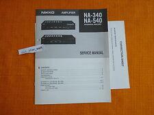 Service MANUAL Nikko NA 340 540 English schema elettrico riparazione manuale istruzioni