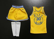 Custom 1/6 Stephen Curry classic jersey 30 Warriors NBA TOYs yellow fit enterbay