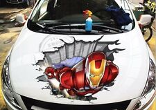 "IRON MAN 3D Car Hood Graphics Vinyl Decal Sticker Motors 24""x29"""