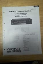 Onkyo Service Manual for the TX-84 TX-84M Tuner Amplifier Amp Receiver ~ Repair