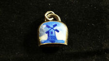 VINTAGE STERLING SILVER WINDMILL BELL CHARM