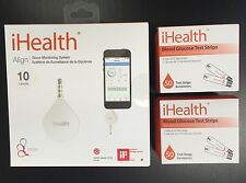 iHealth Align Glucometer Gluco Monitoring System BG1 and 100 Test Strips