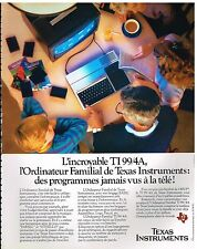 Publicité Advertising 1983 Ordinateur TI 99/4A Texas Instrument