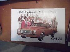 GM General Motors Passenger Cars brochure 1973 Passenger cars