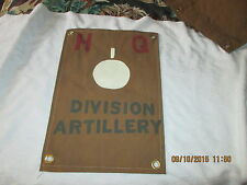 WWII US ARMY DIVISION ARTILLERY  101ST AIRBORNE HQ COMMAND POST  FLAG