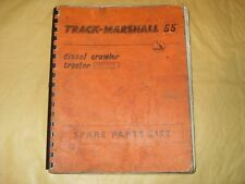 Track - Marshall 55 Diesel Crawler Tractor Service Parts List - As Photo's