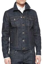 NWT Mens Burberry Brit Mid Indigo Blue Dark Wash Denim Jacket sz XXL 2XL $495