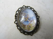 Vintage Bronze Plated Flower Fairies Chicory Fairy Brooch New in Gift Bag