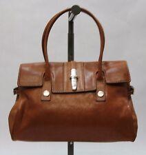 MICHAEL KORS VINTAGE Genuine Leather Purse TAN DOUBLE STRAP FLAP FRONT LARGE
