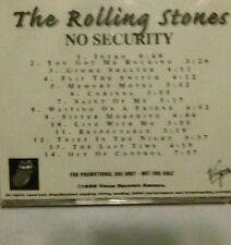THE ROLLING STONES 1998 No Security 14-Track Virgin Advance Promo-Only CD