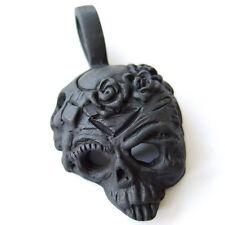 Anhänger Black Skull Rosenkranz Punk Rock Biker PP028