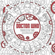 Doctor Who Travels in Time Adult Colouring Book Dr Space Monsters BBC Tardis NEW
