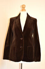 LADIES TURE VINTAGE ST MICHAEL  BROWN VELVET OCCASION JACKET/BLAZER UK 12 VGC