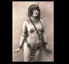 Exotic Nude Belly Dancer Girl PHOTO Vintage Egyptian,Nude Breasts, Art Print
