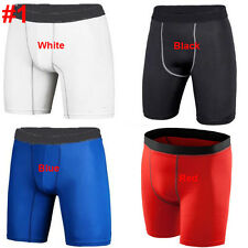 Men's Compression Tights Base Layer Gym Shorts Pants Trousers Bottoms Sportswear
