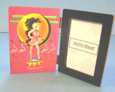 "PINK FLAMINGOS & BETTY BOOP FRAME 3-D Die-cut Pix 2""x3"" Photo StandUp Hinged NOS"