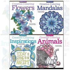 Design Originals Creative Coloring 4 Books Collection Set by Valentina Harper