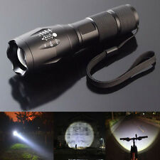 Military Tactics 2200LM Zoomable XML T6 LED Flashlight Focus Torch Lamp Light