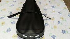 Suzuki TS250 TS400 New Best Quality Seat Cover + Strap 1975 model.White logo (s8