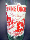 vintage ACL Soda Bottle: SPRING GROVE of SPRING GROVE, MINN. - 10 oz ACL POP
