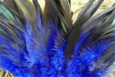 50 1/2 BRONZE ROYAL BLUE ROOSTER SCHLAPPEN FEATHERS 5-7