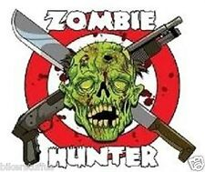 ZOMBIE HUNTER WITH SKULL STICKER