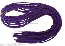 Dark Purple Dreadlocks Double Ended Synthetic Singular Dreads