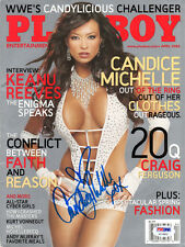 CANDICE MICHELLE SIGNED AUTOGRAPHED FULL PLAYBOY MAGAZINE RARE WWE DIVA PSA/DNA