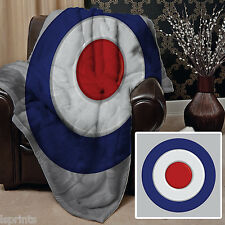 MOD TARGET FLEECE  DESIGN SOFT FLEECE BLANKET COVER THROW HOME BED L&S PRINTS