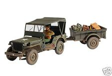 81008 Forces Of Valor Unimax Diecast 1:32 U.s Jeep Willys + Remolque Ww2 Nuevo