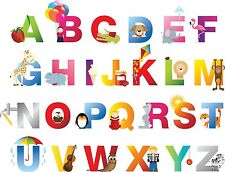 ALPHABET PHOTO PICTURE WALL ART CHART - FUN FOR THE KIDS - LEARNING MADE EASY