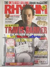 RHYTHM SEALED Magazine Giu 2008 +cd Led Zeppelin Travis Barker  Erskine AC/DC