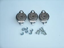BELTON 9 pin 12AX7, EL84 tube sockets, TOP MOUNT, with hardware, 3 pcs
