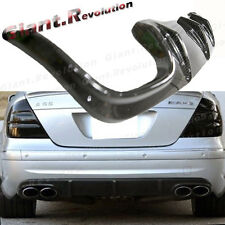 Carbon A Style Rear Lower Diffuser Fit On 03-06 M Benz W211 E55AMG Sporty Bumper