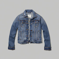 Abercrombie & Fitch WOMEN Denim JACKET Size LARGE New With Tags blue pockets