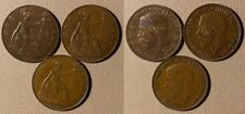 Great Britain : Lot 3 Coins I P 1917 + 1921 All Xf-Au #810 Ir1882