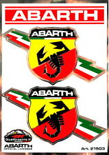 Fiat 500 Punto Evo Abarth Sticker Pair x2 Emblem Badge Logo New Genuine 59230307
