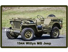 1944 Willys Jeep US ARMY WWII  Auto Refrigerator / Tool Box Magnet